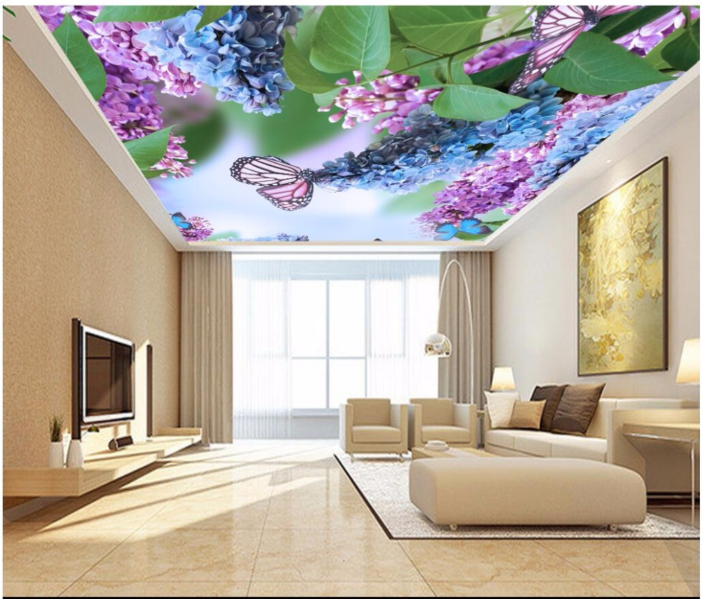 3d ceiling murals wall paper Beautiful wisteria flower butterfly painting 3d wall murals wallpaper for room walls 3 d custom photo 3d ceiling murals wall paper european spelling a flower room decor painting 3d wall murals wallpaper for walls 3 d