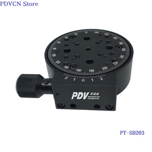 Image 4 - PT SD203 R Axis 360 degree Manual Rotary Stage 100mm Manual Rotation Stage rotating platform rotary stage,