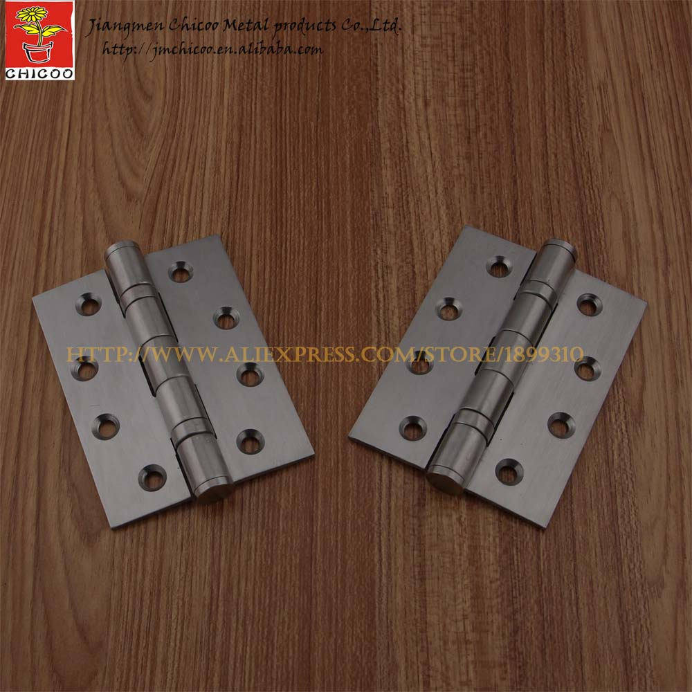 Door hinge 4X3 full stainless steel 304 wood door butt hinges,garag door hinges,door hinge hardware 1 pair 4 inch furniture hinge stainless steel hinge door hinge satin finish lash hinge