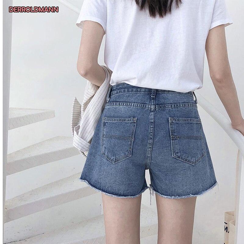 Spring Summer Medium Waist Girls Fashion Denim Short Jeans Women in Jeans from Women 39 s Clothing