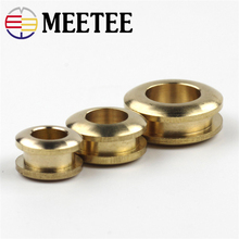 4pcs Meetee Pure Copper O Ring Eyelet Buckle Metal Fittings Hollow Corn Turn Diy Handmade Leather Bags Shoes Accessories