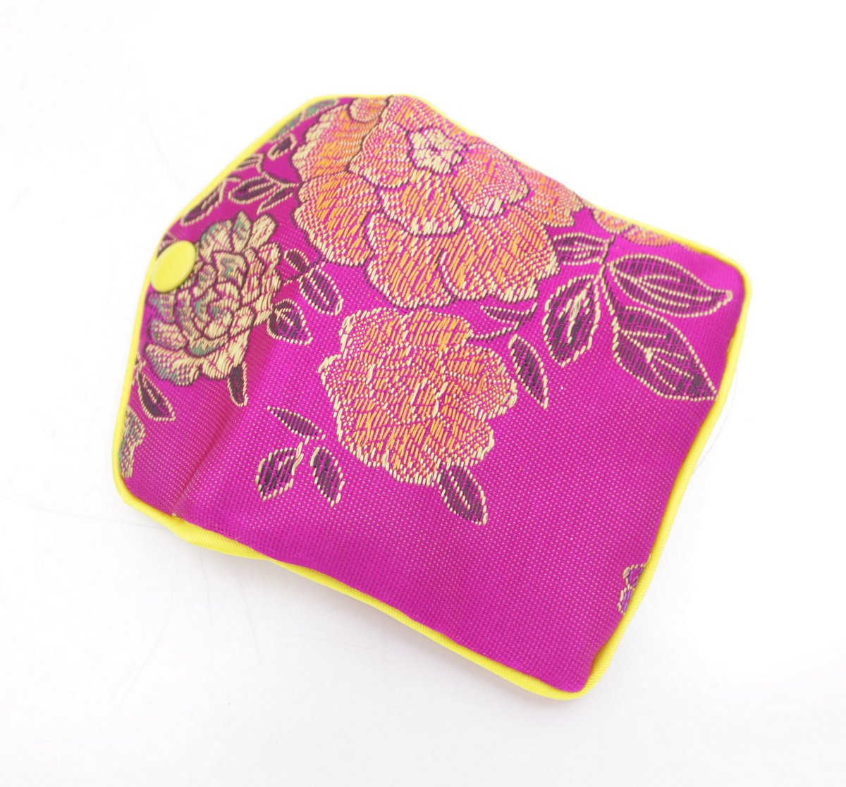 beauty 10 pcs pink flower baldachin cloth gift jewelry bags pouches 65mmx80mm