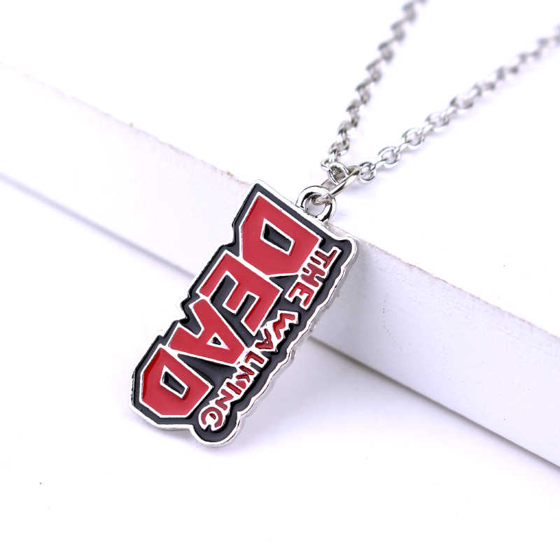 Game Movie The Walking Dead Pendant Necklace Baseball Bat Light Bulb Comb Rick Zombie Stick Statement Necklace Jewelry Gift