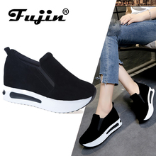 Fujin Brand 2020 Lady Sneakers Spring Summer Autumn Wedge Shoes Vulcanized For Women Creepers Female Platform