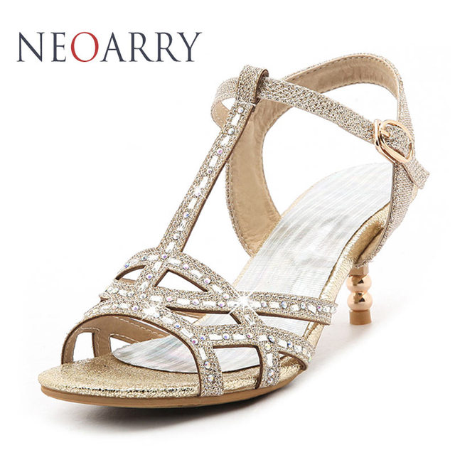 57f065fbb NEOARRY Vogue Large Size Womens Shoes Size 45 Women Rhinestone Shoes  Glitter Hollow Out Sandals Med