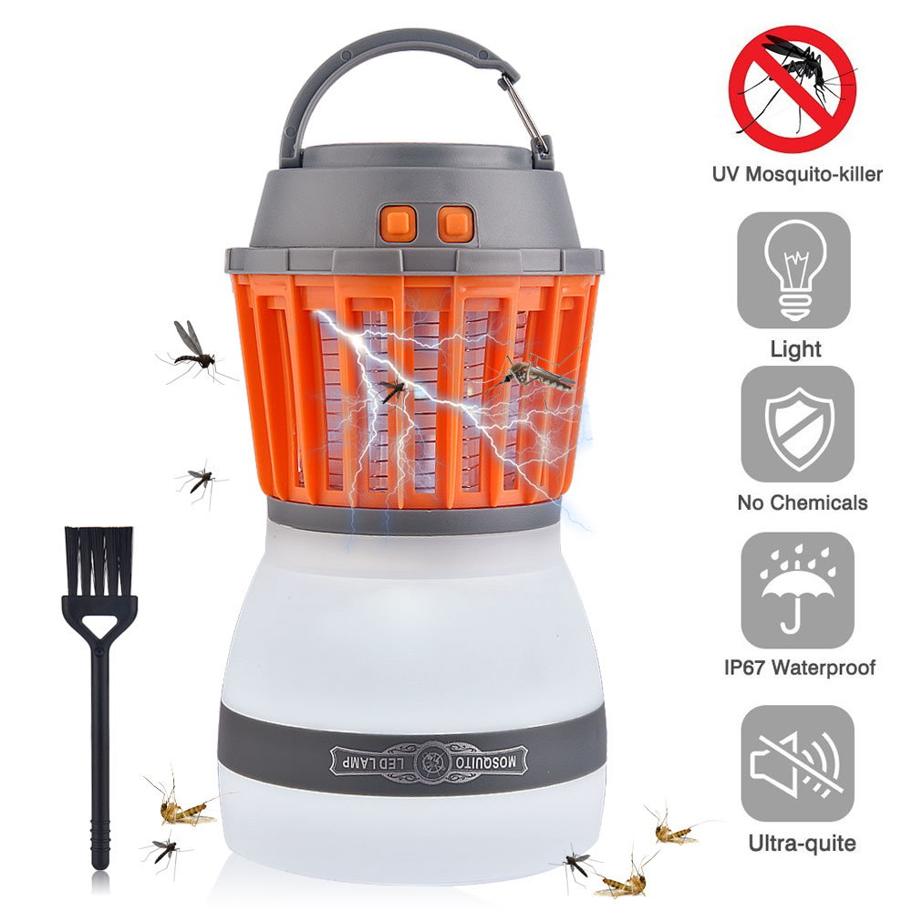 Enkeeo Camping Mosquito Zapper Killer Lantern Tent Lamp Insect Zapper Pest Trap