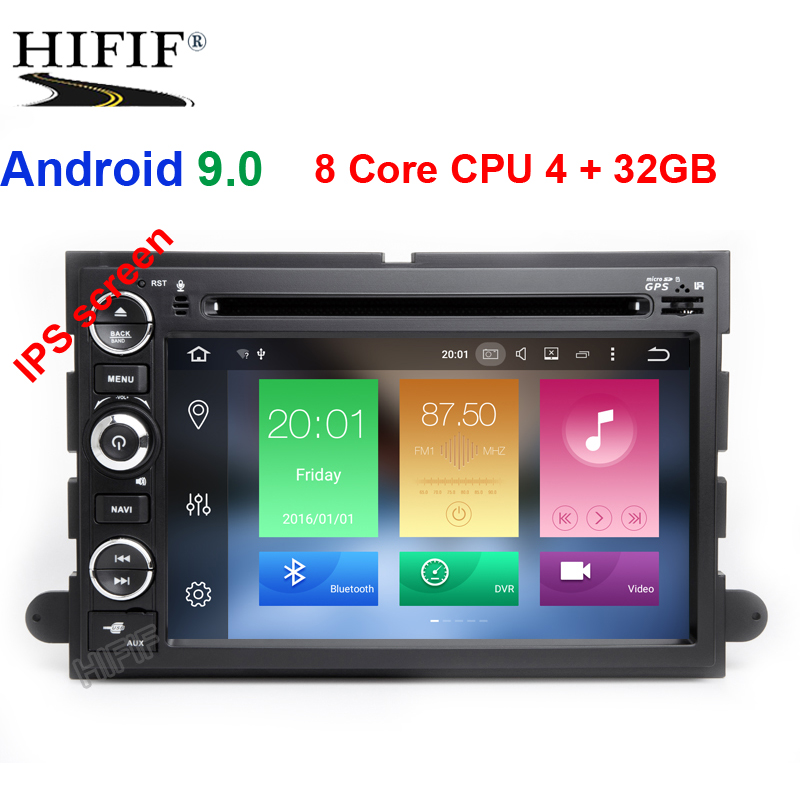 Android 9.0 Car DVD Player Per Ford F150 F350 F450 F550 F250 Fusion Expedition Mustang Explorer Edge2GB RAM BT Wifi canbus Radio