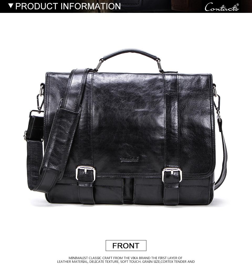 HTB1c5XAemSD3KVjSZFKq6z10VXaY CONTACT'S men's briefcase genuine leather business handbag laptop casual large shoulder bag vintage messenger bags luxury bolsas