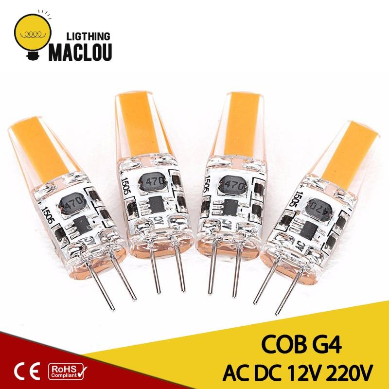 MACLOU COB G4 Lamp LED Bulb Led Light Bulb G4 Led AC DC 12V 220V Home Lighting Lights Replace Halogen Led Spotlight Chandelier