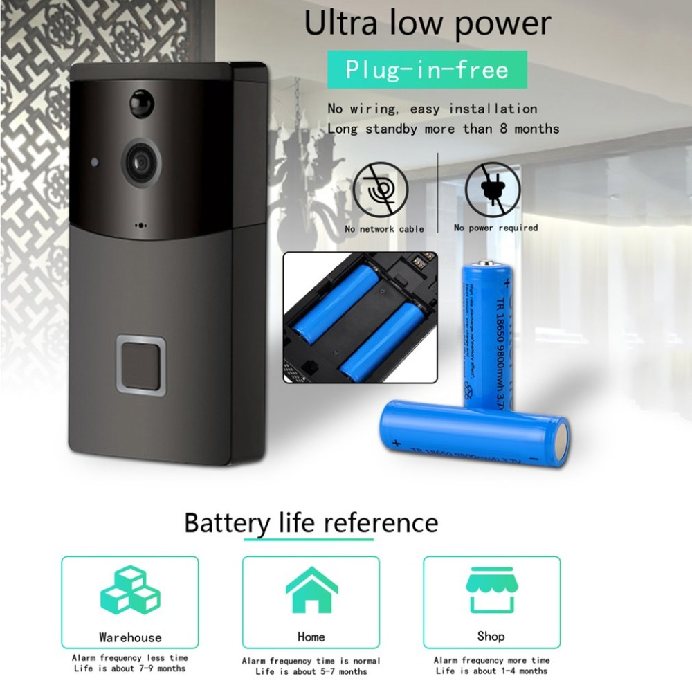 Wf05 Smart Video Doorbell Wi Fi Infrared Night Vision Wireless Voice Home Electronic Wiring Connection Cat Eye In From Security Protection On