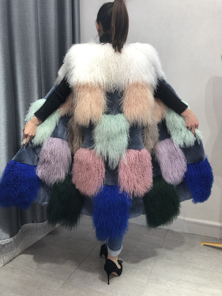Women Sleeveless Long Fur Vests Waistcoats Mongolian Faux Fur Coat Jacket Parka