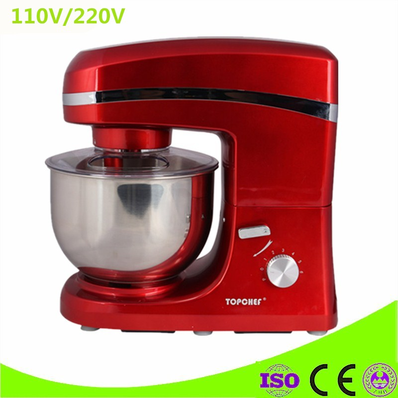 Commercial Use 6 Files High Speed Automatic Flour blender Dough mixer 5L Food Mixing Machine free shipping multifunctional dough blender commercial flour dough mixer home wheat flour mixer machine mixer machine