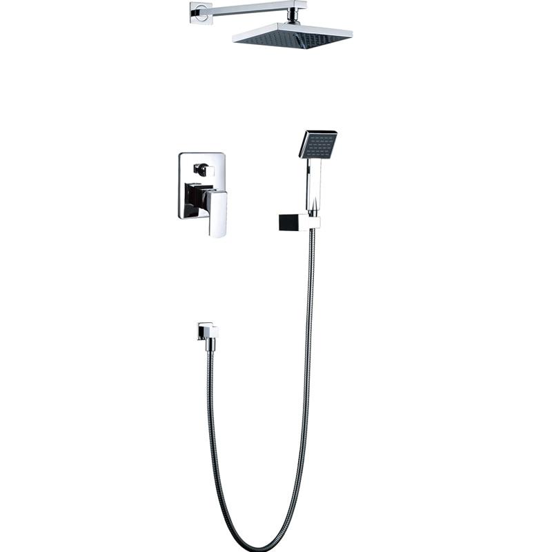 Shower Set Torneira 8 inch Shower Head Bathroom Rainfall Bath Tub Chrome Sink Faucets,Mixers & TapsShower Set Torneira 8 inch Shower Head Bathroom Rainfall Bath Tub Chrome Sink Faucets,Mixers & Taps