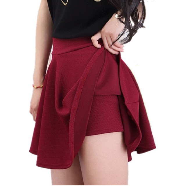 c36d8ca3033 Clobee 2018 Woman Shorts Skirt Fashion High Waist Sexy Office Lady Skirts  Female Elastic Mini Skirt Autumn Women Skirt -in Skirts from Women s  Clothing on ...