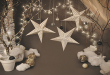 Customize Photo Background For Studio Christmas Photographic Snowflake Star Baby Backdrops Vinyl