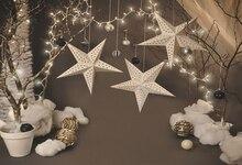 비닐 사진 크리스마스 배경 눈송이 스타 인쇄 컴퓨터 신생아 크리스마스 사진 소품 어린이 촬영