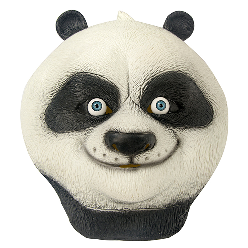 Cartoon Movie Kung Fu Panda Mask Latex Unisex Full Head