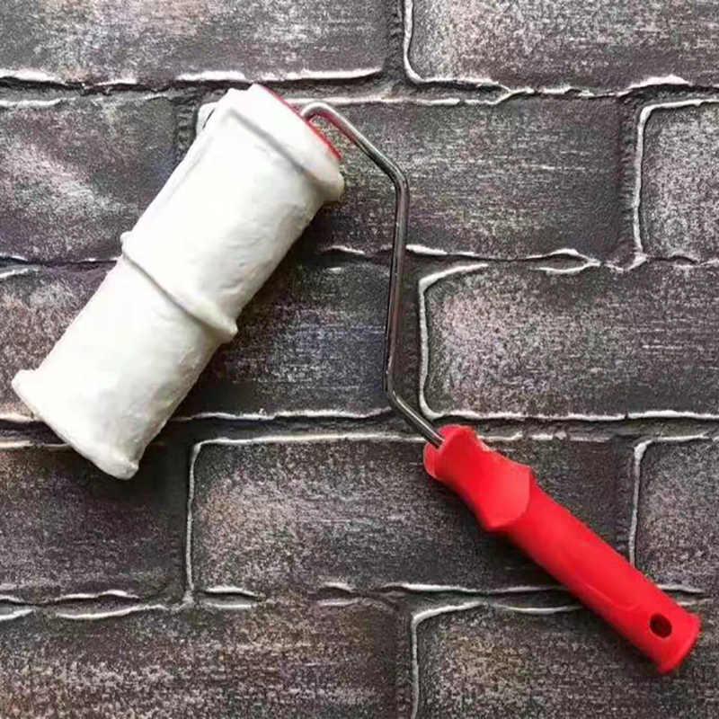 نمط رولة دهانات البولي يوريثين أداة حماية البيئة ختم اللوحة أدوات اسطوانة الزخرفية تقليد الحجر للجدار