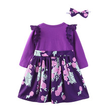Toddler Infant Baby Girl Floral Princess Party Dress Outfits Sister Clothes Set Cotton Blend Fashion Floral S3MAR14