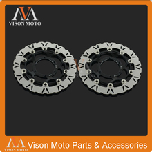 2PCS Front Floating Brake Disc Rotor For Honda CBR600RR 03-14 CBR1000RR 04-05 CB1000R 08-14 CB1300SF 05-09 Super Bol-dor 05-11