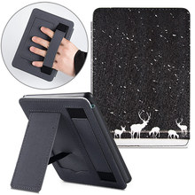 BOZHUORUI Stand Case for All New Kindle Paperwhite (10th Generation, 2018 Release)   PU Leather Protective Cover with Hand Strap