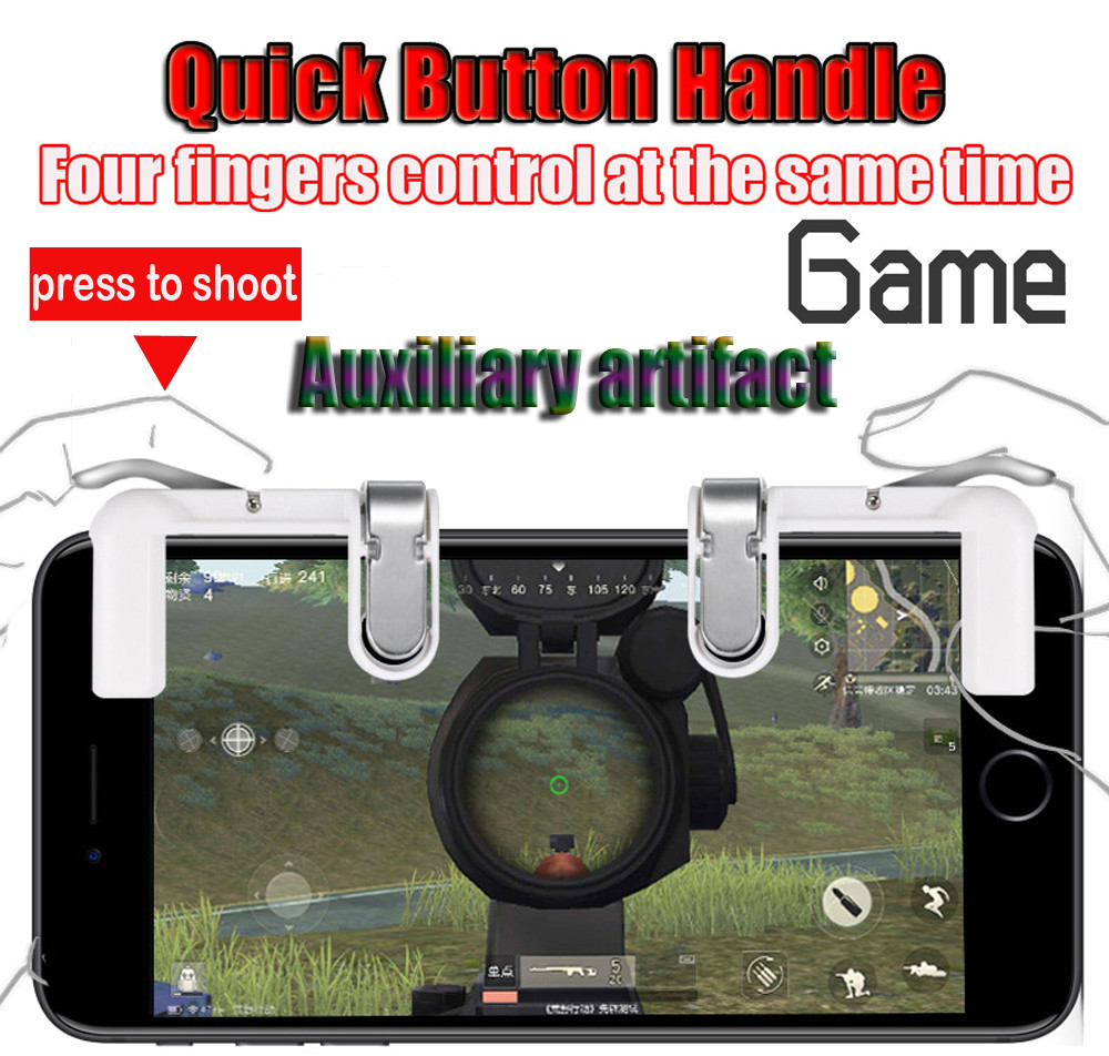 Back To Search Resultstoys & Hobbies New W18 4in1 Game Holder Gaming Mobile Phone Game Trigger Fire Button L1r1 Shooter