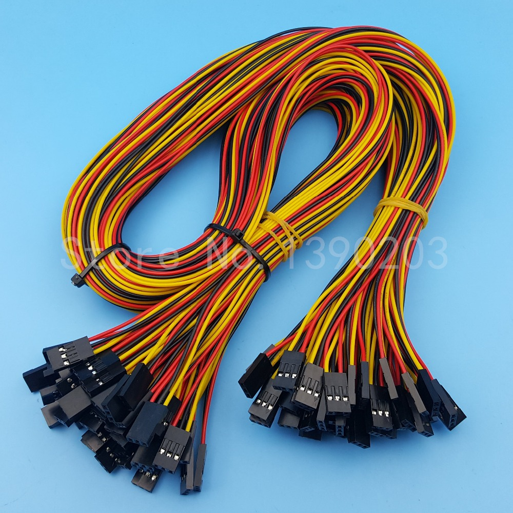 50Pcs 3Pin Double Ends Female To Female Pitch 2.54mm 70cm Dupont Jumper Wire Connector 26AWG For 3D Printer free shipping 100pcs 70cm 4pin 4pin female to female jumper wire dupont cable for 3d printer