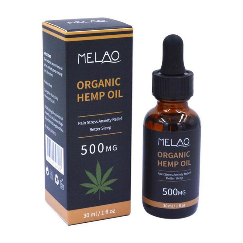 Oil-500mg CBD Herbal-Drops Hemp Anxiety Facial-Body Skin-Care Relieve-Stress Organic