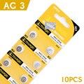 10 Pcs/1 cartão de Bateria de Célula Tipo Moeda 392 192 SR41 ag3 LR41 1.5 V Proteção Ambiental Tamanho 7.9*3.6mm Para/Jogos Eletrônicos