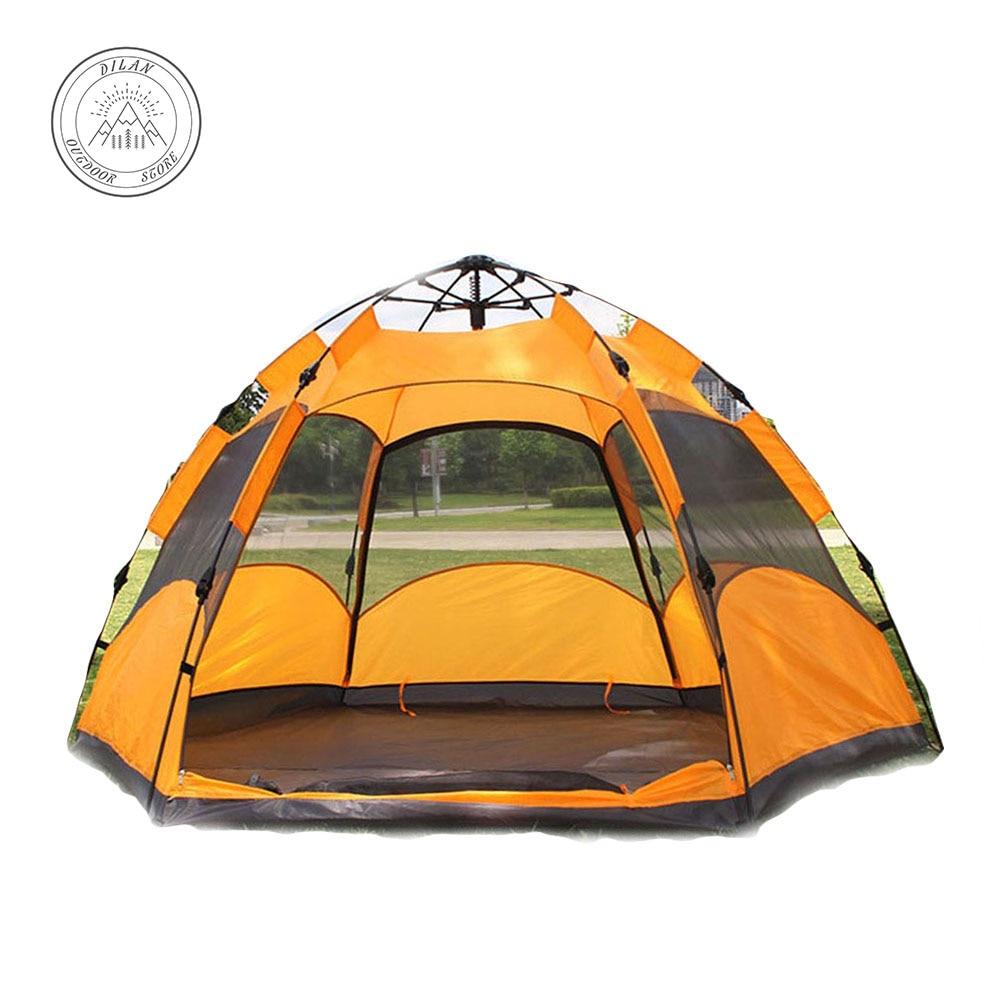 все цены на tente 3-4people double-decked hexagonal camping tent pole hexagonal field camp outdoor tent carpas de camping ultralight tent