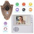 Seguridad para el hogar 2.4 pulgadas LCD de La Puerta Digital Mirilla Visor de Vídeo Timbre de La Cámara 0.3 M Night Vision Video Record