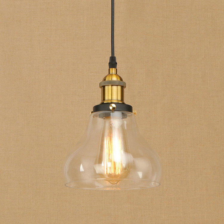 IWHD Glass LED Pendant Lamp Vintage Loft Retro Industrial Pendant Lights Bedroom Kitchen Home Lighting Fixtures Iron Lamparas edison inustrial loft vintage amber glass basin pendant lights lamp for cafe bar hall bedroom club dining room droplight decor