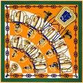 100% seda de la tela cruzada y H sable de lana de alto grado mantón bufanda de la cachemira chal y niña grande