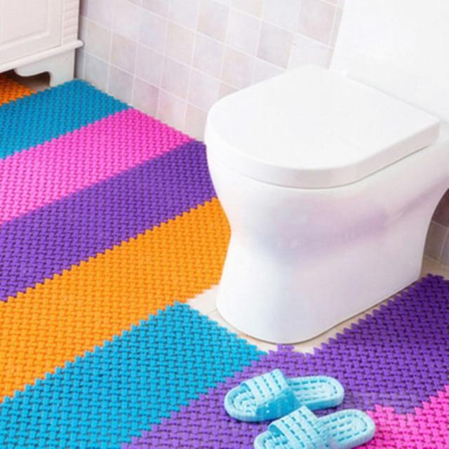 1pcs 6 Colors Available Non Slip Waterproof Bathroom Mat Carpet Love Shaped Shower Foot Message
