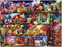 Diamond Painting Embroidery Wedding Decoration Kit Pictures Of Rhinestones New Needlework Bookshelf World Tourism Wall Painting