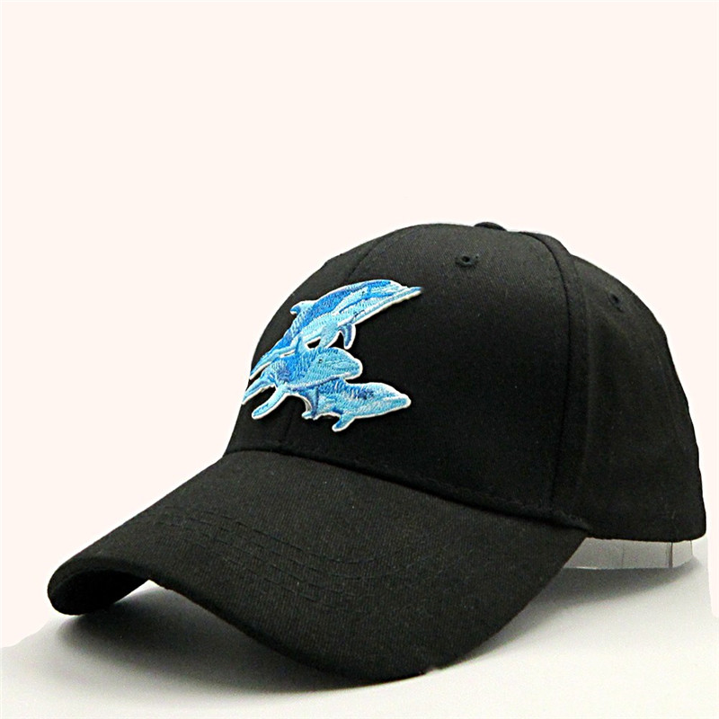 LDSLYJR Snapback Hats Dolphin Baseball-Cap Embroidery Adjustable Cotton Adult for Child