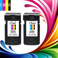 Hisaint 뜨거운 PG-210XLCL-211XL 잉크 카트리지 잉크 레벨 디스플레이 캐논 PIXMA MP495 IP2702 MP230 MP240 MP250 프린터 잉크