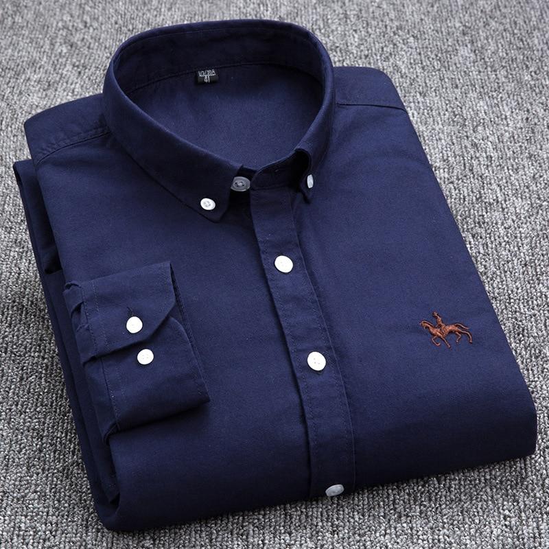 Image 3 - Dudalina Big Size Cotton Brand Shirt Men Long Sleeve Spring Mens  Casual Shirts Oxford Dress Shirt Camisa Masculina Printed Horseshirt  men long sleevecamisa masculinacamisa brand