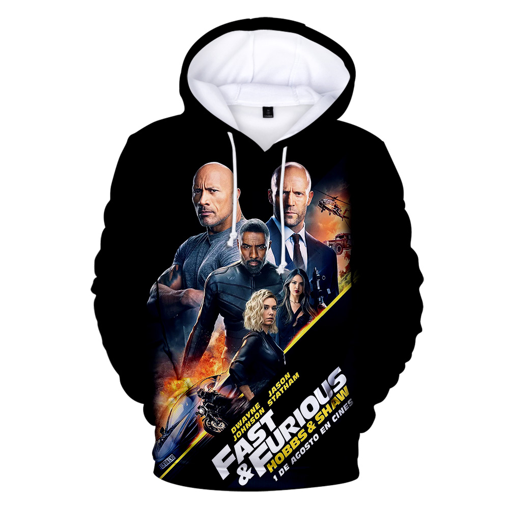 Aikooki Fast & Furious 3D Hooded Mannen Sweatshirt Male Fashion Pullover Fast & Furious Long Sleeve Man Hoody Streetwear Top