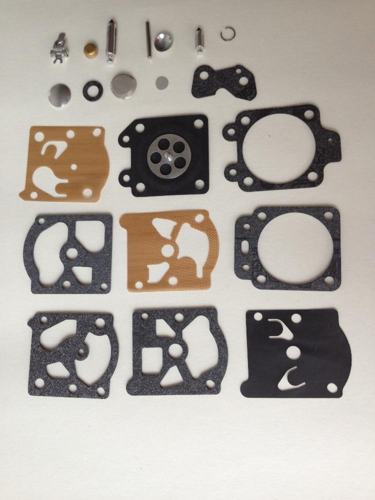 Kit de reparación de carburador de carburador de 5 juegos K20-WAT WA WT con reconstrucción de juntas Las piezas del diafragma se ajustan a la recortadora Walbro, motosierra, weedeater, echo
