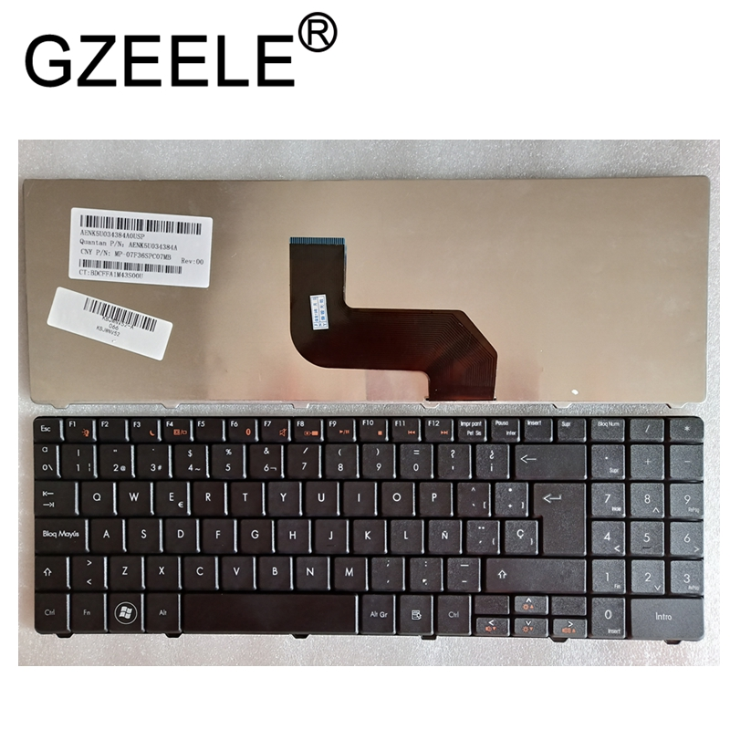 GZEELE New FOR Packard Bell EasyNote TJ61 TJ62 TJ65 TJ66 TJ64 TJ65 TJ67 TJ71 KEYBOARD SPANISH SP TECLADO BLACK
