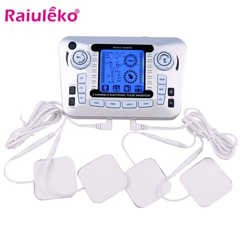 20 Gears Electronic Pulse Massager Tens Ems Machine Massager Electrical Nerve Muscle Stimulator Acupuncture Slimming Pain Relief