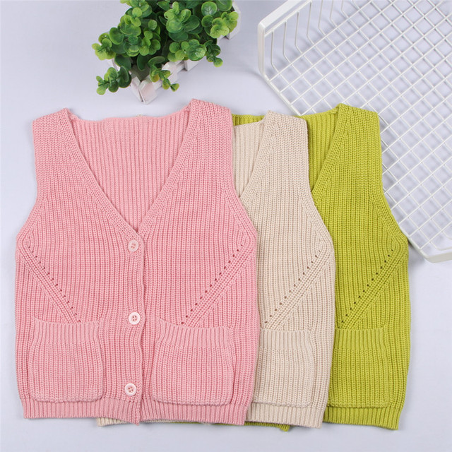 d4c0ce60325a Kids New Spring Korean Girls Knitted Shawl Baby Cardigan Sweater ...
