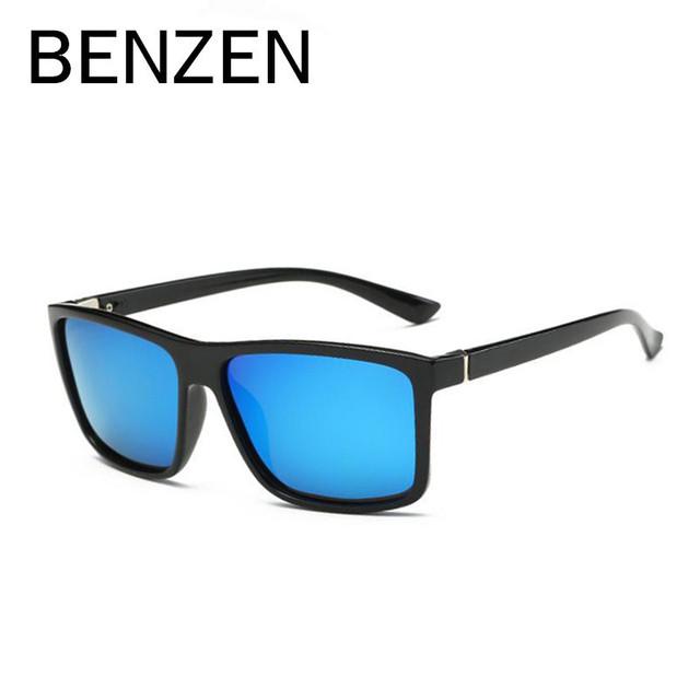 Benzen óculos de sol marca designer masculino fresco desporto ao ar livre óculos de sol dos homens polarizados para a condução de pesca preto com caso 9181
