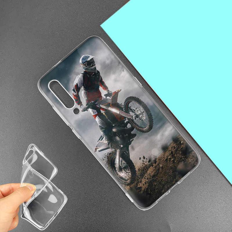 Moto Cruz motos para Huawei P20 P30 P Smart Z Plus Nova 5 5i P10 P9 amigo bolsas de teléfono de silicona 10 20 lite Pro