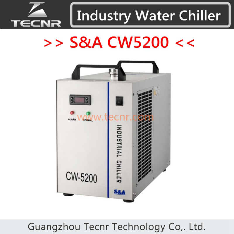 S&A CW5200 industrial water chiller for laser machine cooling laser tube device CW5200AH chiller cw 3000 cw 5200 water pump voltage 24v dc power 30w flow rate 8 5l min head 8 meter