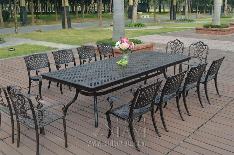 13 piece cast aluminum patio furniture garden furniture Outdoor ...