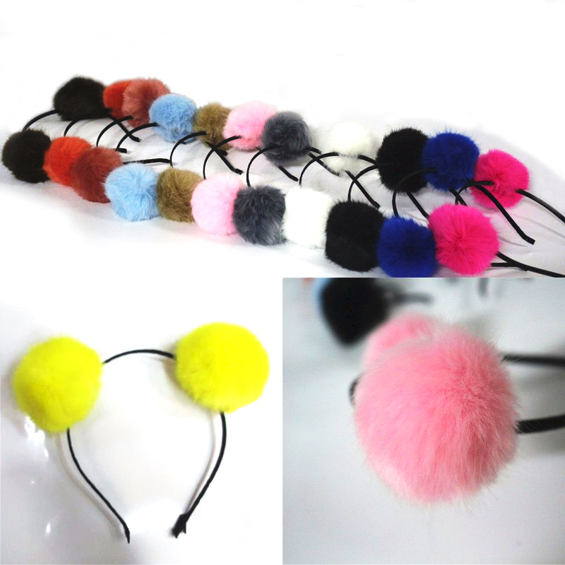 1Pcs Candy Colors Artificial Rabbit Fur Headband Halloween Xmas Party Head  Hair Wear for Kids Girls Women Hairband Headwear-in Party DIY Decorations  from ... a1517037b7b