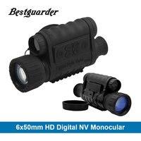 Bestguarder الرقمية للرؤية الليلية أحادي ir الحياة البرية 6x50 ملليمتر 5mp hd كاميرا الصيد 850nm الأشعة يلة رؤية التلسكوب