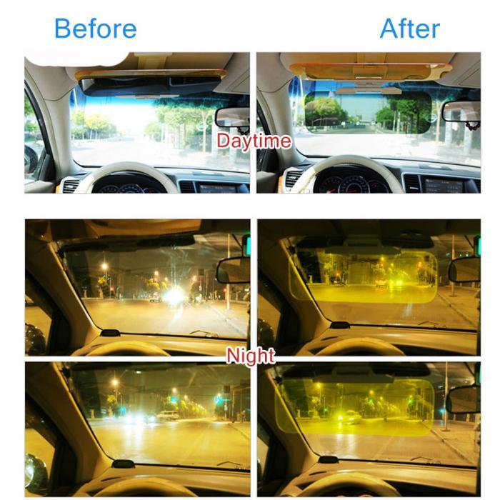 Day And Night Sun Anti Glare HD Car Windshield Visor